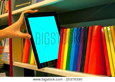 Hand Holding A Tablet Pc