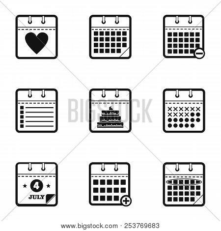 Chronology Icons Set. Simple Set Of 9 Chronology Icons For Web Isolated On White Background