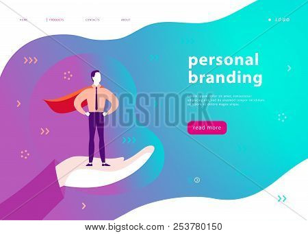 Vector Web Page Template For Personal Branding, Business Communication, Consulting, Planning. Landin