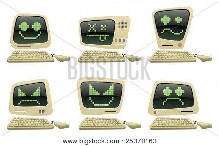 Retro Computer Icons Set One