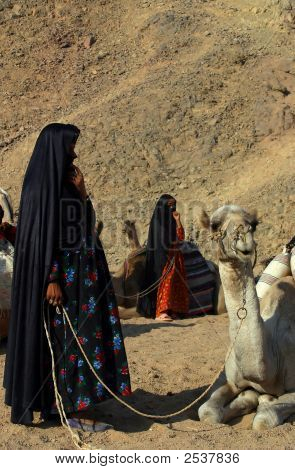 Arabian Bedouin Draperied Woman