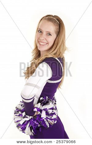 Cheerleader Side View Smile