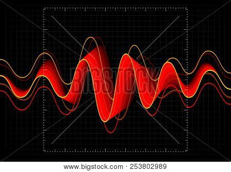 Equalizer Vector Illustration. Abstract Wave Icon Set For Music And Sound. Pulsation Color Wavy Moti