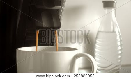 An image of making a cup of coffee