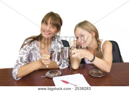 Girls Drinking Coffee