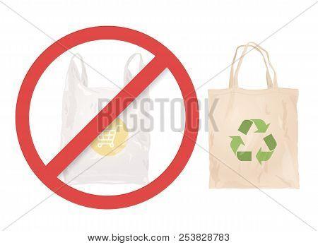 Reusable Cloth Bag Instead Of Plastic Bag. Shopping Bags. Zero Waste Tips. Eco Lifestile. Stop Using