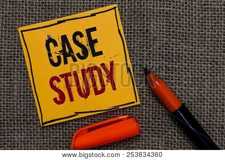 Conceptual Hand Writing Showing Case Study. Business Photo Showcasing A Subject Matter To Be Discuss