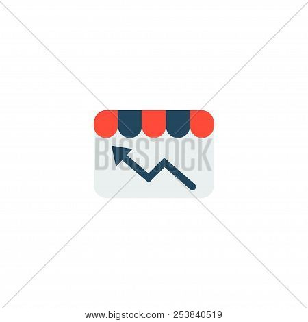 Store Statistics Icon Flat Element. Vector Illustration Of Store Statistics Icon Flat Isolated On Cl
