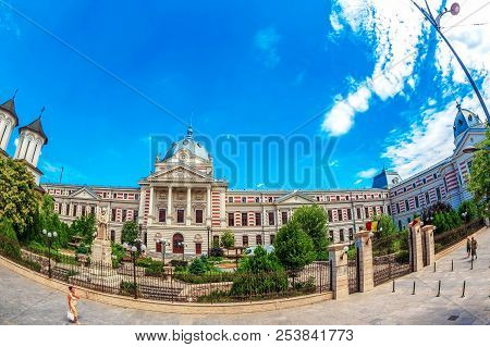 Bucharest, Romania - July 17, 2018: Coltea Hospital. The Original Building Built In 1704 Was Destroy