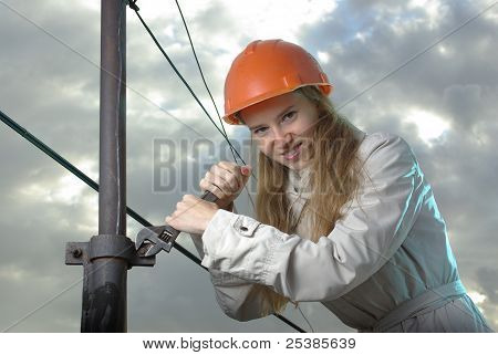 Angry female at work