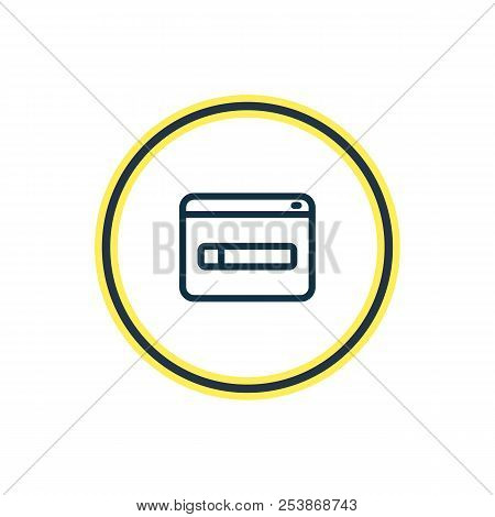 Vector Illustration Of Domain Registration Icon Line. Beautiful Marketing Element Also Can Be Used A