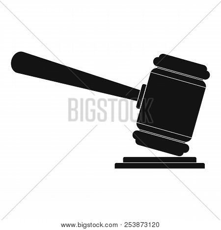Judge Gavel Icon. Simple Illustration Of Judge Gavel Icon For Web