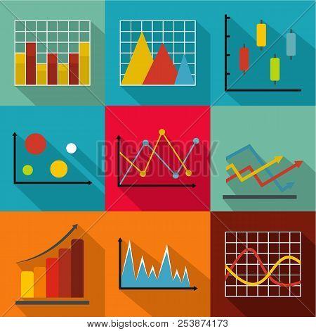 Economic Policy Icons Set. Flat Set Of 9 Economic Policy Icons For Web Isolated On White Background