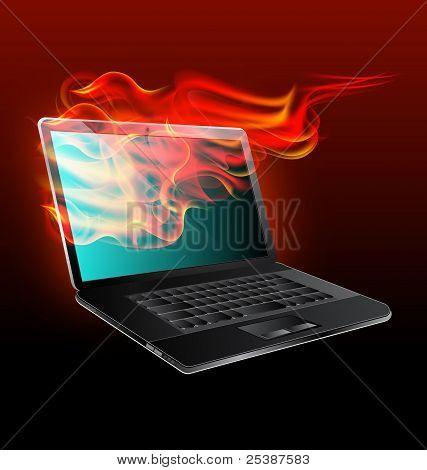 Open Fire Laptop