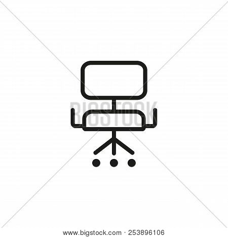 Boardroom Chair Line Icon. Manager, Ergonomic Furniture, Armchair. Chair Concept. Vector Illustratio