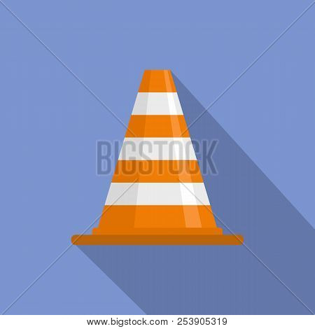 Attention Cone Icon. Flat Illustration Of Attention Cone Icon For Web