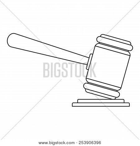 Judge Gavel Icon. Outline Illustration Of Judge Gavel Icon For Web
