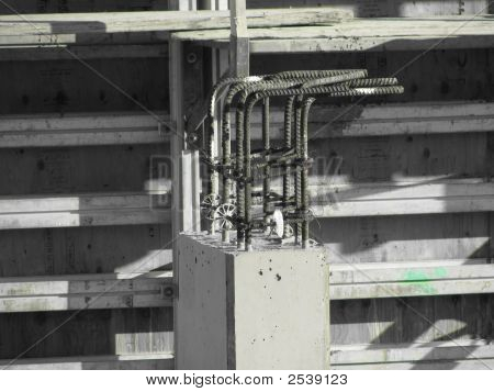 Cement And Rebar Structure