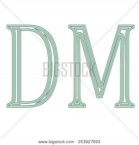 Deutsche Mark Germany   currency  symbol icon vector illustration on a white background poster