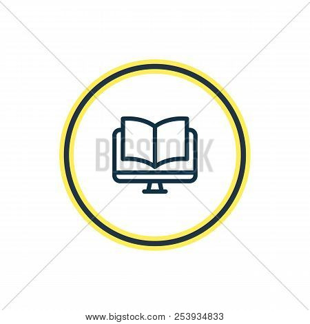 Illustration Of Ebook Icon Line. Beautiful Read Element Also Can Be Used As Online Reading Icon Elem