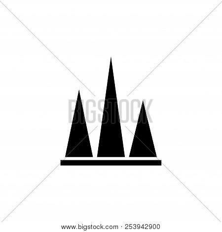 Stock Chart Peak. Flat Vector Icon Illustration. Simple Black Symbol On White Background. Stock Char