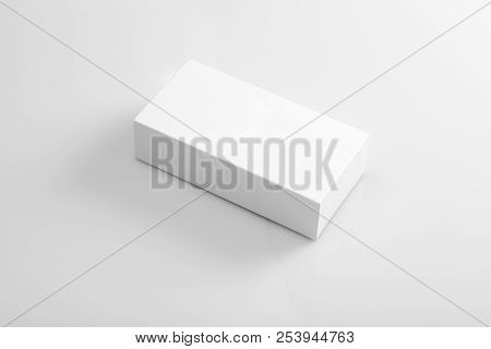 Blank White Product Packaging Box For Mockups