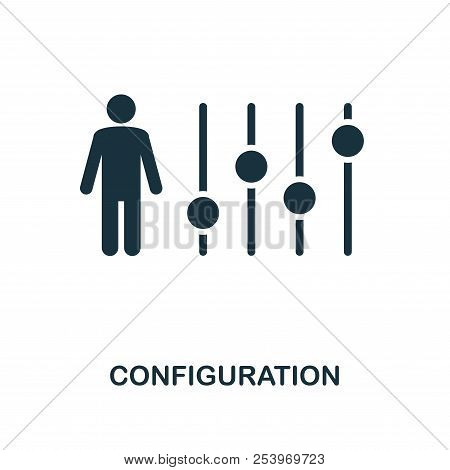 Configuration icon. Monochrome style icon design from project management icon collection. UI. Illustration of configuration icon. Ready to use in web design, apps, software, print. poster