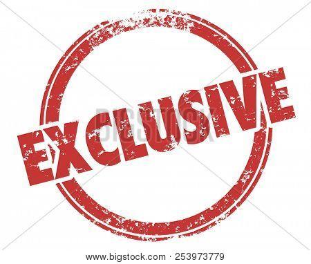 Exclusive Special Premium Elite Access Stamp Illustration