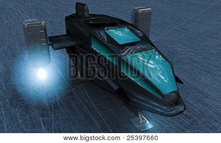 Transbordador espacial en pista