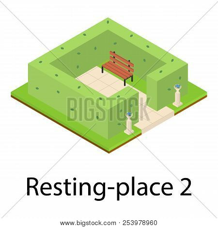 Resting Place Icon. Isometric Illustration Of Resting Place Icon For Web