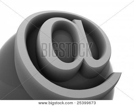 symbol for internet. 3d
