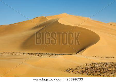 Perfect Sand Dune In The Sahara Desert, Libya