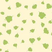 Vector seamless pattern with leaf. Botanical floral backdrop. poster
