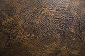 Brown natural  leather texture for  background western poster