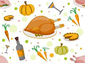 Background Illustration with a Thanksgiving Theme