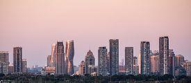 City Of Mississauga (near Toronto) Skyline At Sunset