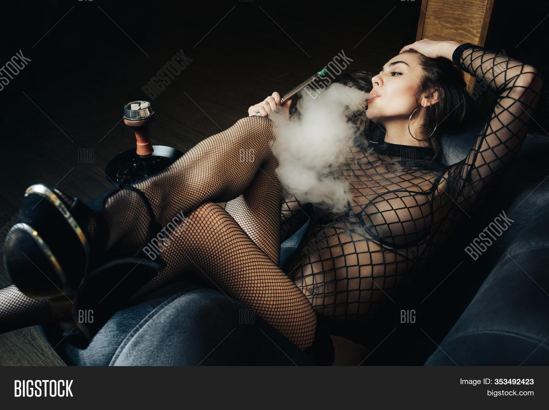 beautiful girl smoking sex