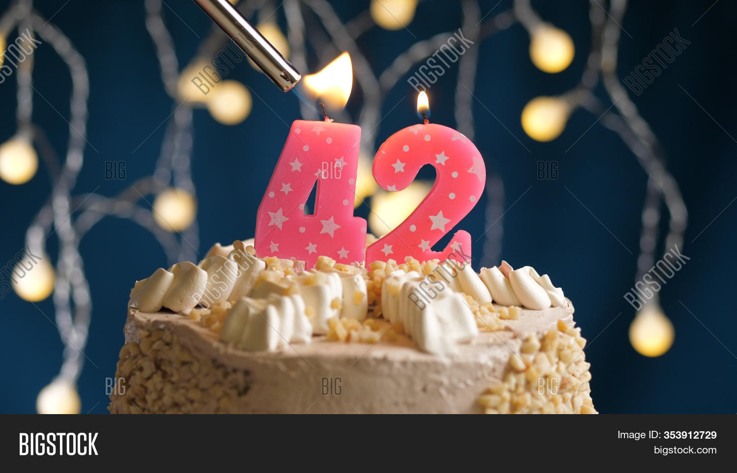 Terrific Birthday Cake 42 Image Photo Free Trial Bigstock Birthday Cards Printable Nowaargucafe Filternl