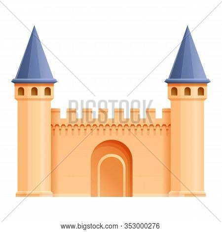 Turkish Castle Icon. Cartoon Of Turkish Castle Vector Icon For Web Design Isolated On White Backgrou