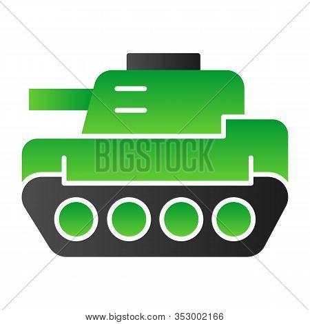 Tank Flat Icon. Panzer Vector Illustration Isolated On White. Armor Gradient Style Design, Designed
