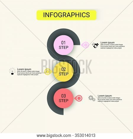 Infographics Vector Design Business Infographic Template With 3 Options. Creative Concept For Infogr