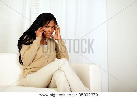 Attractive Woman Conversing On Cellphone