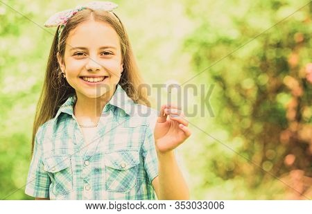Having Fun. Girl Rustic Style Making Wish And Blowing Dandelion Nature Background. Why People Wish O