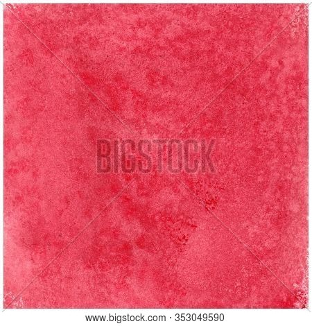 Bright Pink, Red Abstract Watercolor Textured Background