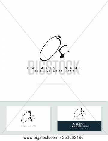 O S Os Initial Logo Signature Vector. Handwriting Concept Logo.