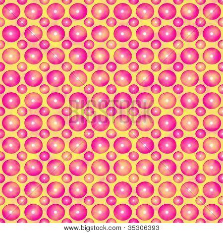 Pink Balls Teen Pattern.
