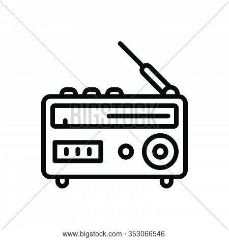 Black Line Icon For Radio Antenna Broadcast Advertising  Ancient Pristine Broadcast Technology Journ