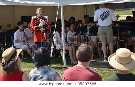 Usmb Clarinetist At Picnic Pops