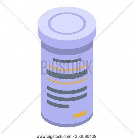 Aspirine Jar Icon. Isometric Of Aspirine Jar Vector Icon For Web Design Isolated On White Background