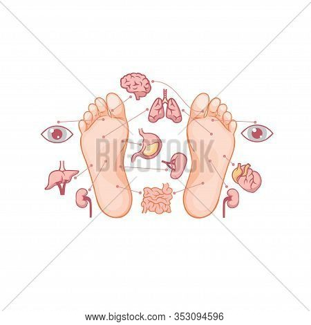 Cartoon Soles Of Feet With Marked By